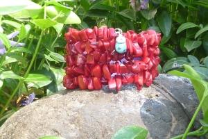 """Garden Delight"" Coral Wrap Bracelet  20.00"