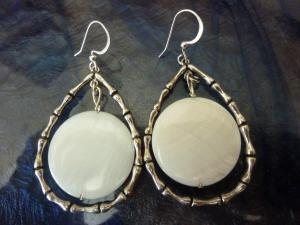 Silver and Shell Earrings